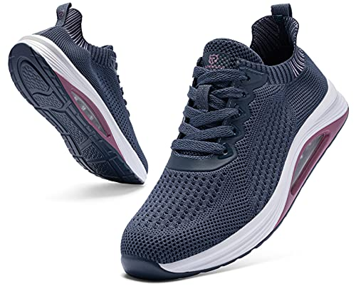LARNMERN PLUS Donna Sneakers Cuscino d'Aria Running Mode Scarpe Blu 38