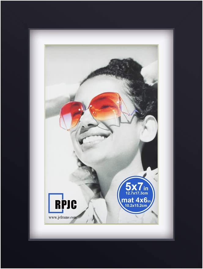 5x7 inch Picture Frame Made of Solid Wood and High Definition Gl