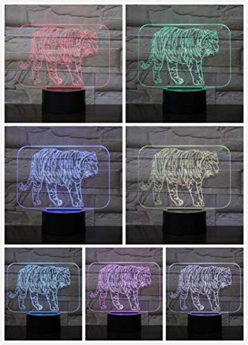 Nachtlampje jungle King Tiger-touch Klein Nachtlampje 7 Kleuren Touch Optische Foto Tafel Decoratie Lamp, Geschikt Voor Slaapkamer Bar Sfeerlamp