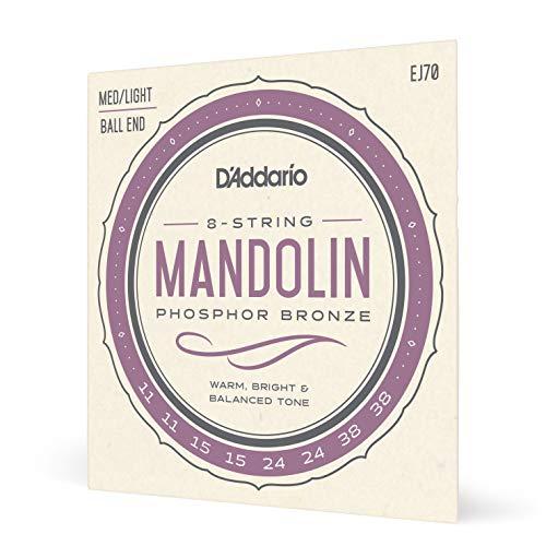D'Addario EJ70 Saitensatz für Mandoline, Mandola, Mandocello & Mandobass Mandoline mit Ball End