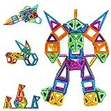 Condis Construcciones Magneticas Niños 114 Piezas Bloques de Construcción Magnéticos Juegos Magneticos Imanes Juguetes Niños de 3 4 5 6 7 Años Educativos Montessori Viaje Regalos para Niños Niñas
