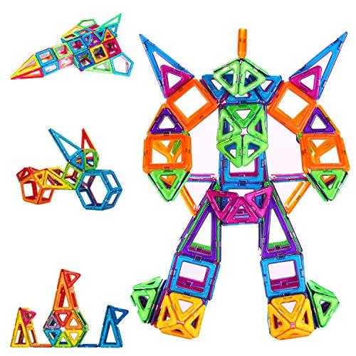 CONDIS 114 Piezas Bloques de Construcción Magnéticos para Niños, Juguetes Niños de 3 4 5 6 7 8 Años Juegos Magneticos Educativos Viaje Juego de Imanes magneticas para Niños Niñas Montessori Regalos
