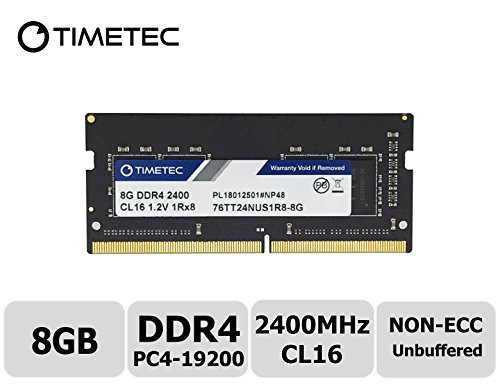 Timetec Hynix IC DDR4 2400MHz PC4-19200 Non ECC Unbuffered 1.2V CL17 2Rx8 Dual Rank 260 Pin SODIMM Laptop Notebook Computer Memory Ram Module Upgrade (8GB)
