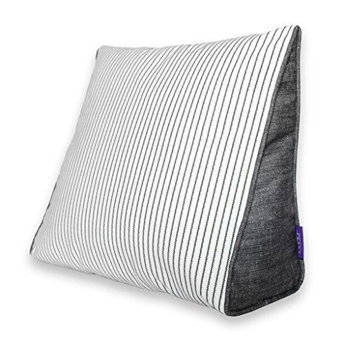 Chi Cheng Fang Electronic business Striped triangular backrest lattice headrest pillow car Japanese pillow cushion the best gift (Color : B, Size : 605025cm)