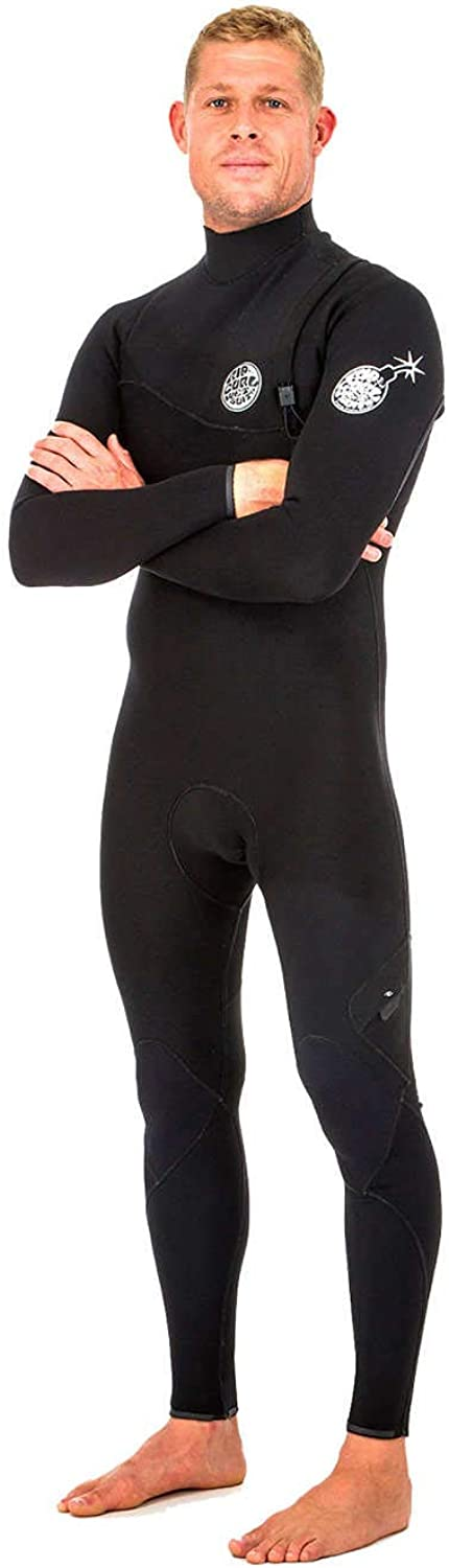 Rip Curl E Bomb Pro 4 3MM Zip Free Wetsuit Black  Easy Stretch & Lightweight