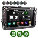 XOMAX XM-11GA Autoradio con Android 10 adatto per VW SEAT SKODA I Quad Core, 2GB RAM, 32GB ROM I Navigatore GPS I Supporto WIFI, 4G, DAB, OBD2 I Bluetooth I Touch Screen 8'' I DVD, CD, USB, SD, RDS