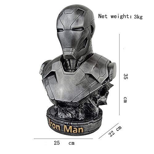HOOPOO Avengers Busto de Ironman Marcos 46 Resina Ironman Estatua Acción PVC calcula los Juguetes (Color : 02)