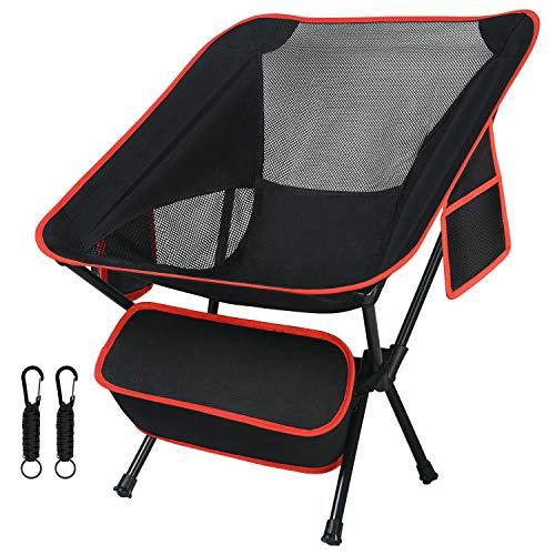 Flintronic Silla de Camping Plegable, Sillas de Mochilero Plegables Ultraligeras Compactas, con...