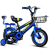 HYCy Children's Bike, Boy's Bike, 18 Inch, Suitable For Boys Aged 6-10, with...