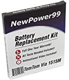NewPower99 Battery Replacement Kit with Battery, Video Instructions and Tools for Tomtom Via 1515M