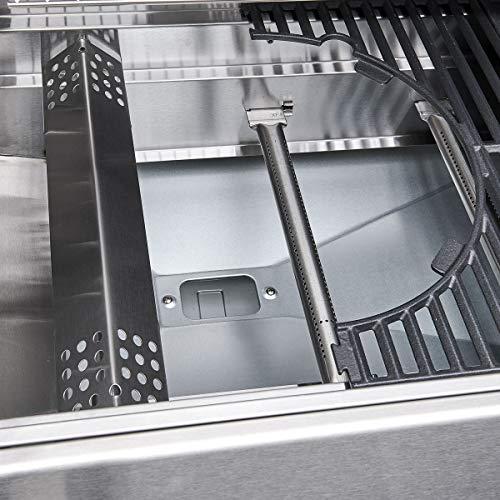 512E+omLj3L - TAINO Platinum 4+2 Gasgrill komplett Edelstahl Set inkl. Haube Druckregler Backburner Sear-Burner Power-Zone Keramik-Brenner BBQ Grillwagen Griller Gusseisen Seitenkocher Piezozündung