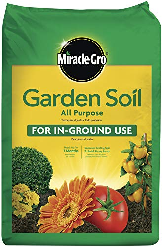 Miracle-Gro Garden Soil All Purpose: 2 cu. ft, for In-Ground Use, Feeds for 3 Months, Amends...