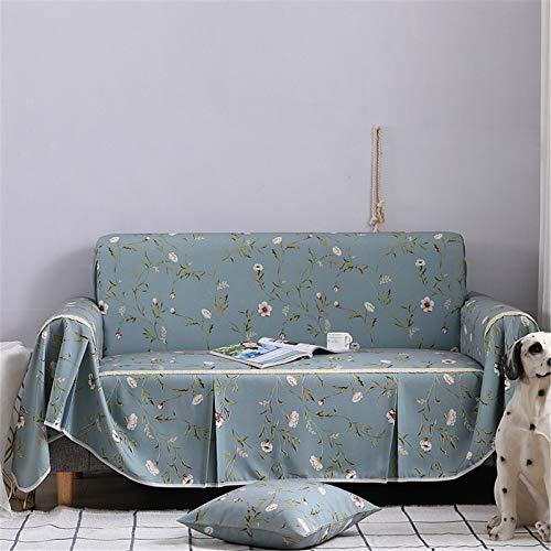 Toalla de sofá antideslizante Impreso Poliéster Spandex Spandex Loveseat Couch Cubiertas, azul Universal Fitted Sofa Slfvaver Protector de muebles,1seater