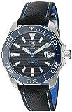 Reloj automático TAG Heuer de zafiro anti-reflectante en caja de acero con correa de tela negra, de 41 mm, para hombre WAY211B.FC6363