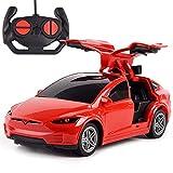 AIOJY RC enfants voiture électrique rechargeable 2.4G Drift ouvert Jouets porte for enfants Filles Tesla électrique Toy voiture Télécommande sans fil for enfants Drift Racing Sport Open Door Modèle du