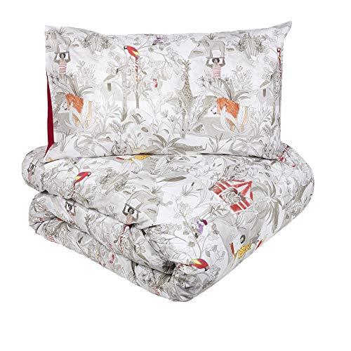 Fazzini Tagesdecke für Doppelbett Perkal aus reiner Baumwolle Safari