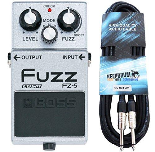 Boss FZ-5 Fuzz-Pedal Effektgerät + keepdrum Klinkenkabel 3m