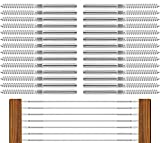 PP Railing Stainless Steel Right&Left Handed Thread Swage Lag Screws for Wood Post of 1/8