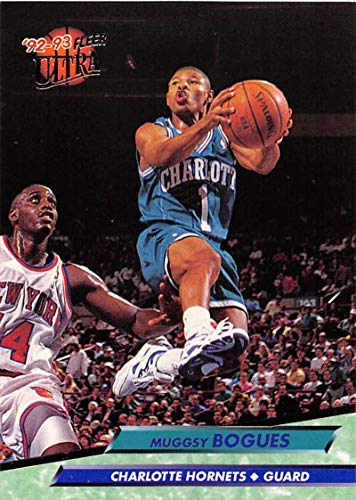 1992-93 Ultra Basketball #17 Muggsy Bogues Charlotte Hornets Charlotte Hornets Official NBA Trading Card From The Fleer Corp