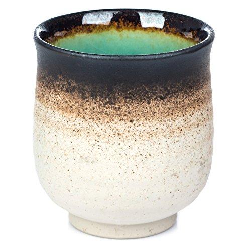 Turquesa Crackleglaze japonés taza de té