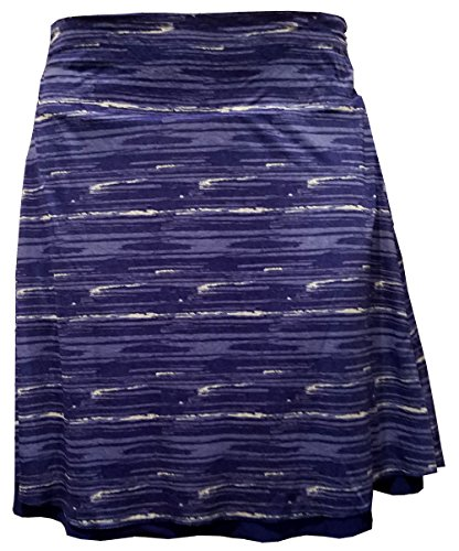 Colorado Clothing Tranquility 21 Print / Solid Reversible Skirt (Medium, Cobalt Paint)