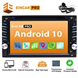 Double Din Car Stereo Android 10.0 Car DVD CD Player with GPS Navigation Bluetooth In Dash Audio Stereo System Capacitive Touchscreen Radio Receiver FM/AM 1080P WiFi Mirror Link Steering Wheel Control