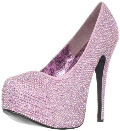 Pleaser Damen Teeze-06r/Bpsa-iridrs, Baby Pink Satin-irid Rs, 38 EU