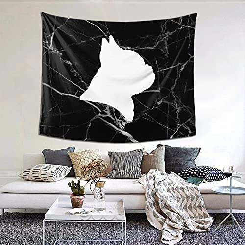 French Bulldog Tapestry Wall Hanging for Bedroom Living Room Dorm 60' x 51'