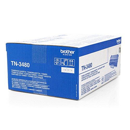 Original Brother TN-3480 /, für HL-L 5100 DNTT Premium Drucker-Kartusche, Schwarz, 8000 Seiten