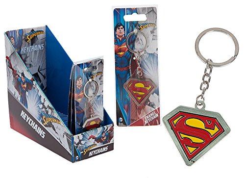 Joy – 301025 – Superman – Logo Porte-clés en métal sur Carte Backer dans Un Affichage (24 pièces)