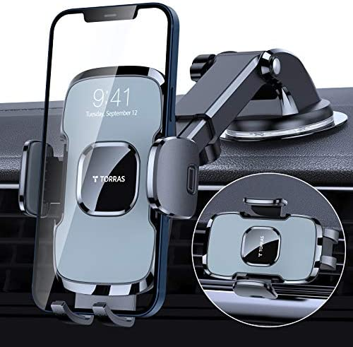 TORRAS Car Phone Holder Mount Latest Military Grade 3 in 1 Cell Phone Holder for Car Dashboard product image