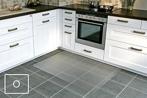 Transparente Bodenschutzmatte, 75 x 120 cm, aus Makrolon®, Schutzmatte für Parkett-, Laminat- & PVC-Böden, 17 weitere Größen und Formen wählbar