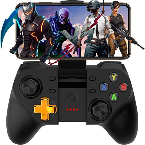 Mobile Game Controller for COD, Wireless Key Mapping Shooting Fighting Racing Gamepad Joystick for iOS Android iPhone iPad Samsung Galaxy Other Phone - Do Not Support iOS 13.4 Game controller-compatib