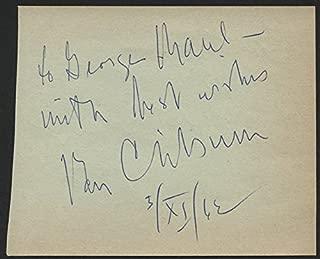 van cliburn autograph