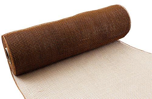 Eleganza Nr. 76Deco Mesh, Tan, 25cm x 9.1m