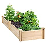 YAHEETECH Raised Garden Bed Kit - Wooden Elevated Planter Garden Box...