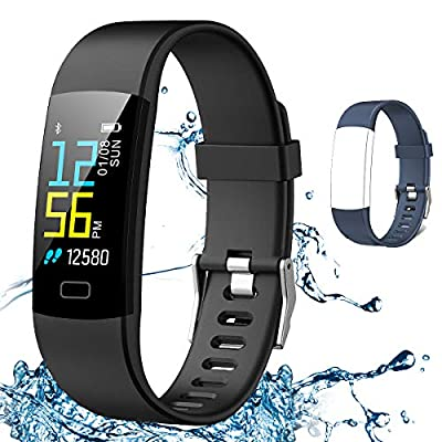 Juboury Fitness Tracker HR, Activity Tracker Watch Heart Rate Monitor with One Extra Band Free Waterproof Smart Bracelet Step Counter, Calorie Counter, Pedometer Watch Kids Women Men, Android & iOS