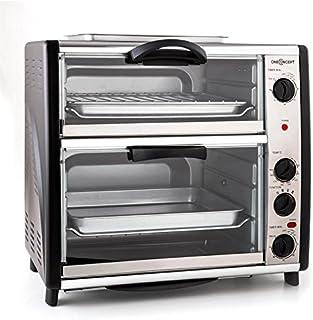 oneConcept All-You-Can-Eat - Four grill, Four électrique, Four double, 42L au total, 2400W, Température réglable, 60-240°,...