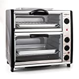 oneConcept All-You-Can-Eat - Four grill, Four électrique, Four double, 42L au total, 2400W,...