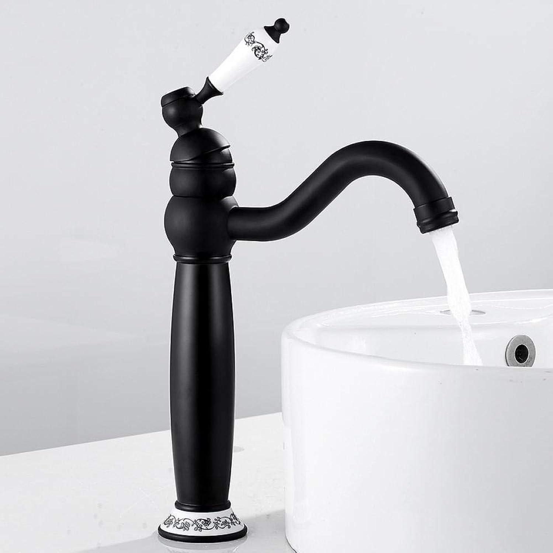 Neue Deck Badezimmer Basin Sink Mischbatterie Poliert Antik Schwarz Wasserhahn Wasserfall Wasserhahn Bad Wasserhahn