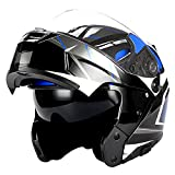 1Storm Motorcycle Modular Full Face Helmet Flip up Dual Visor/Sun Shield Lady Purple Flower Pink