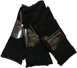 CPL, CPL Pack 6 - Calcetines sin goma de hilo de algodón para caballero