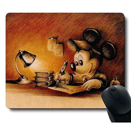 Classic Cute Character Vintage Design The Color of The Ancient Books Yellow Unique Design Mouse Pad