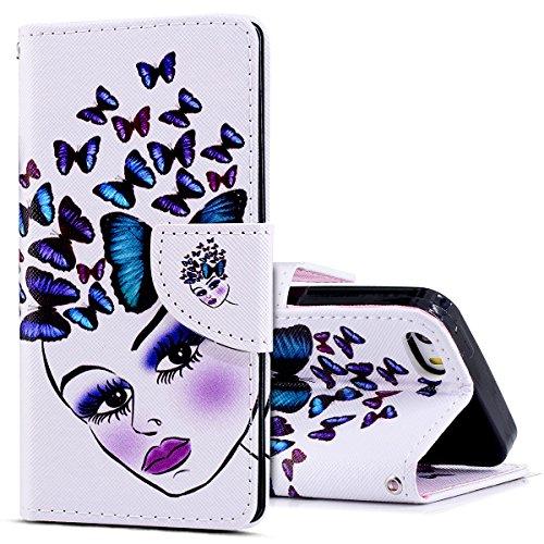 KunyFond Funda Compatible iPhone 5/5s/se,Carcasa iPhone 5/5s/se Premium Vistoso Pintado Patron Cordon...