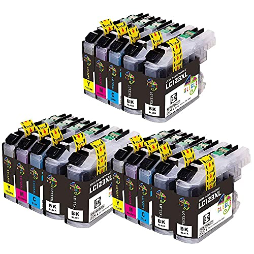 GLEGLE LC123XL Cartuchos Tinta Brother 15 Multipack Reemplazo para LC123 Compatible con Brother DCP-J132W J152W J552DW J752DW J4110DW, MFC-J245 J470DW J870DW J6520DW J6920DW J4410DW J4510DW