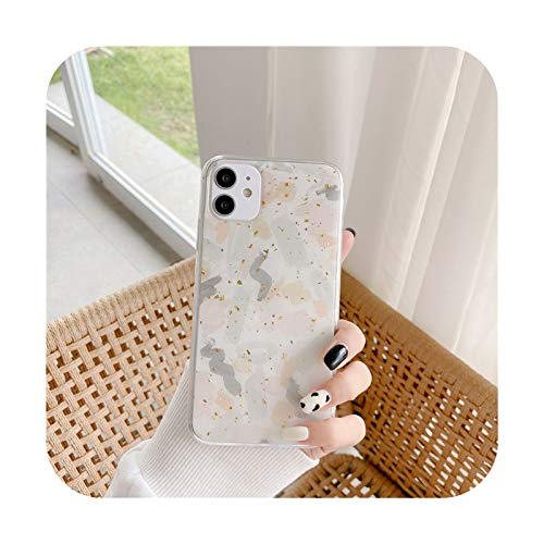 Funda de lujo Glod Foil Graffiti teléfono para iPhone 11 Pro Max XR XS Max X XS 7 8 Plus SE 2020 Patrón geométrico suave TPU contraportada T2-para iphone SE 2020