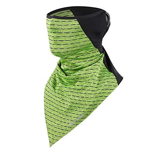 AMEA Multifunktionales Schal-Kopftuch, Atmungsaktiver, Staubdichter Und UV-Schutzschlauch Für Männer Und Frauen Im Sommer, Geeignet Für Outdoor-Sportfahrräder,Grün