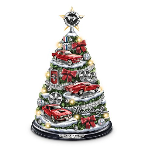 The Bradford Exchange Ford Mustang Holiday Tabletop Tree: Oh What Fun It is to Drive