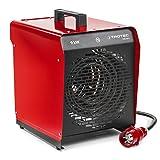 TROTEC TDS 50 E Elektroheizgebläse Integriertes Thermostat 2 Heizstufen Kondensfreie Wärme Kein Sauerstoffverbrauch Elektroheizer Heizstrahler