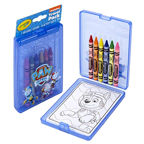 Crayola Paw Patrol Coloring Kit, Travel Activity, Gift for Kids, Ages 3, 4, 5, 6
